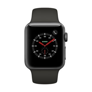Apple Watch Series 3 Aluminum (GPS + Cellular) - 38 mm. Space Grey Aluminium Case with Grey Sport Band
