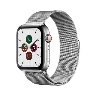 Apple Watch Series 5 (GPS + Cellular) Stainless Steel44mm.Stainless Steel Case with Stainless Steel Milanese Loop