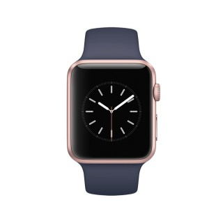 Apple Watch Series 1 - Rose Gold Aluminium Case with Midnight Blue Sport Band (42 mm)