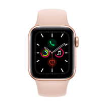 Apple Watch Series 5 (GPS + Cellular) Aluminium 40mm. Gold Aluminium Case with Pink Sand Sport Band