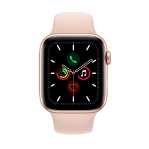 Apple Watch Series 5 (GPS + Cellular) Aluminium 44mm. Gold Aluminium Case with Pink Sand Sport Band