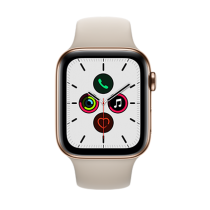 Apple Watch Series 5 (GPS + Cellular) Stainless Steel44mm.Gold Stainless Steel Case  with Stone Sport Band