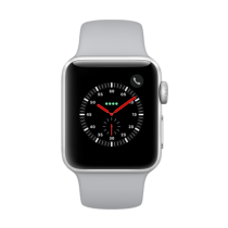 Apple Watch Series 3 Aluminum (GPS + Cellular) - 38 mm. Silver Aluminum Case with Fog Sport Band