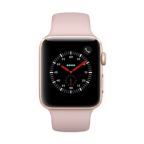 Apple Watch Series 3 Aluminum (GPS + Cellular) - 42 mm. Gold Aluminium Case with Pink Sand Sport Band