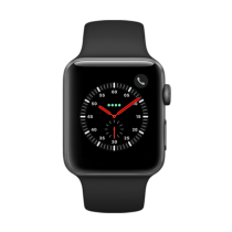 Apple Watch Series 3 Aluminum (GPS + Cellular) - 42 mm. Space Grey Aluminium Case with Black Sport Band