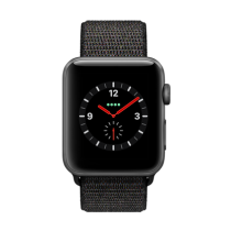Apple Watch Series 3 Aluminum (GPS + Cellular) - 42 mm. Space Grey Aluminium Case with Black Sport Loop