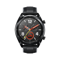 Huawei Watch GT Sport Edition-Black Silicone Strap