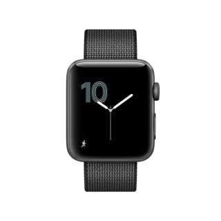Apple Watch Series 2 - Space Grey Aluminium Case with Black Woven Nylon Band (42 mm)