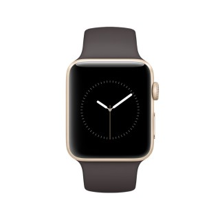Apple Watch Series 1 - Gold Aluminium Case with Cocoa Sport Band (42 mm)
