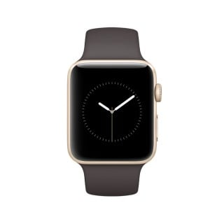 Apple Watch Series 2 - Gold Aluminium Case with Cocoa Sport Band (42 mm)
