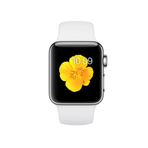 Apple Watch Series 2 - Stainless Case with White Sport Band (38 mm)